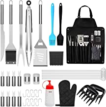 BBQ Grill Accessories, 39PCS Stainless Steel Grilling Tools Set , Barbecue Utensil Kit Gifts with Spatula Tongs Storage Ap...