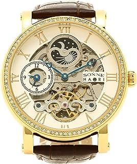 [ゾンネ] 腕時計 メンズ SONNE H013YGZ SV シルバー イエローゴールド ダークブラウン [並行輸入品]