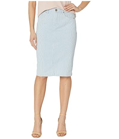 FDJ French Dressing Jeans Stripe Denim Skirt in Chambray (Chambray) Women