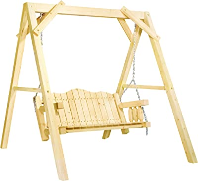 Montana Woodworks MWHCLSVAZ Lawn Swing, Clear Exterior Finish