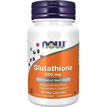 NOW Supplements, Glutathione 250 mg, Detoxification Support*, Free Radical Neutralizer*, 60 Veg Capsules