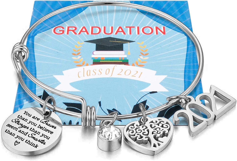 service Class of High order 2021 Graduation Bracelet Inspirational Gifts