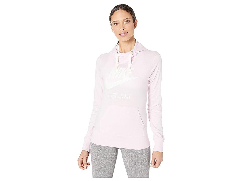 Nike Sportswear Gym Vintage HBR Hoodie (Pink Foam/Sail) Women