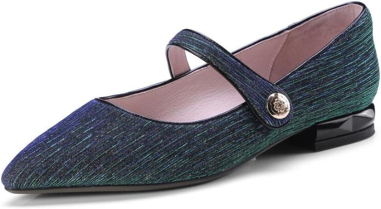 MUYII Frauen Spitzenschuhe Flach Pumps Pailletten Schuhe B07D1NRY8S  Ausgezeichnete Funktion