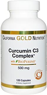 California Gold Nutrition, Curcumin C3 Complex with BioPerine, Inflammation Support Formula, 500 mg, 120 Veggie Capsules, ...