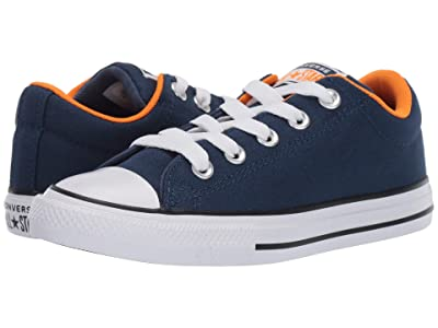 Converse Kids Chuck Taylor(r) All-Star(r) Street Moon Seasons Slip (Little Kid/Big Kid) (Navy/Orange Rind/White) Boys Shoes
