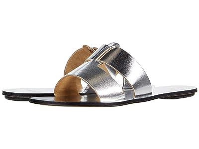 J.Crew Metallic Interlocking Cyprus Sandal (Metallic Silver) Women