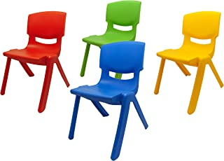 Dimex Kit 4 sillas Infantiles Resistentes de plástico para