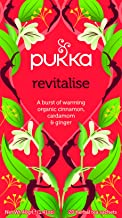 Pukka Herbal Teas Revitalise, Organic Cinnamon and Ginger Tea, 20 Count