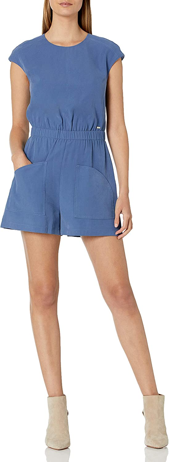 free shipping AX Armani Exchange Women's Cap Sleeve Jumpsuit Relaxed Max 88% OFF Twill