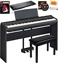 Yamaha P-125 Digital Piano – Black Bundle with Yamaha L-125 Stand, LP-1 Pedal,..