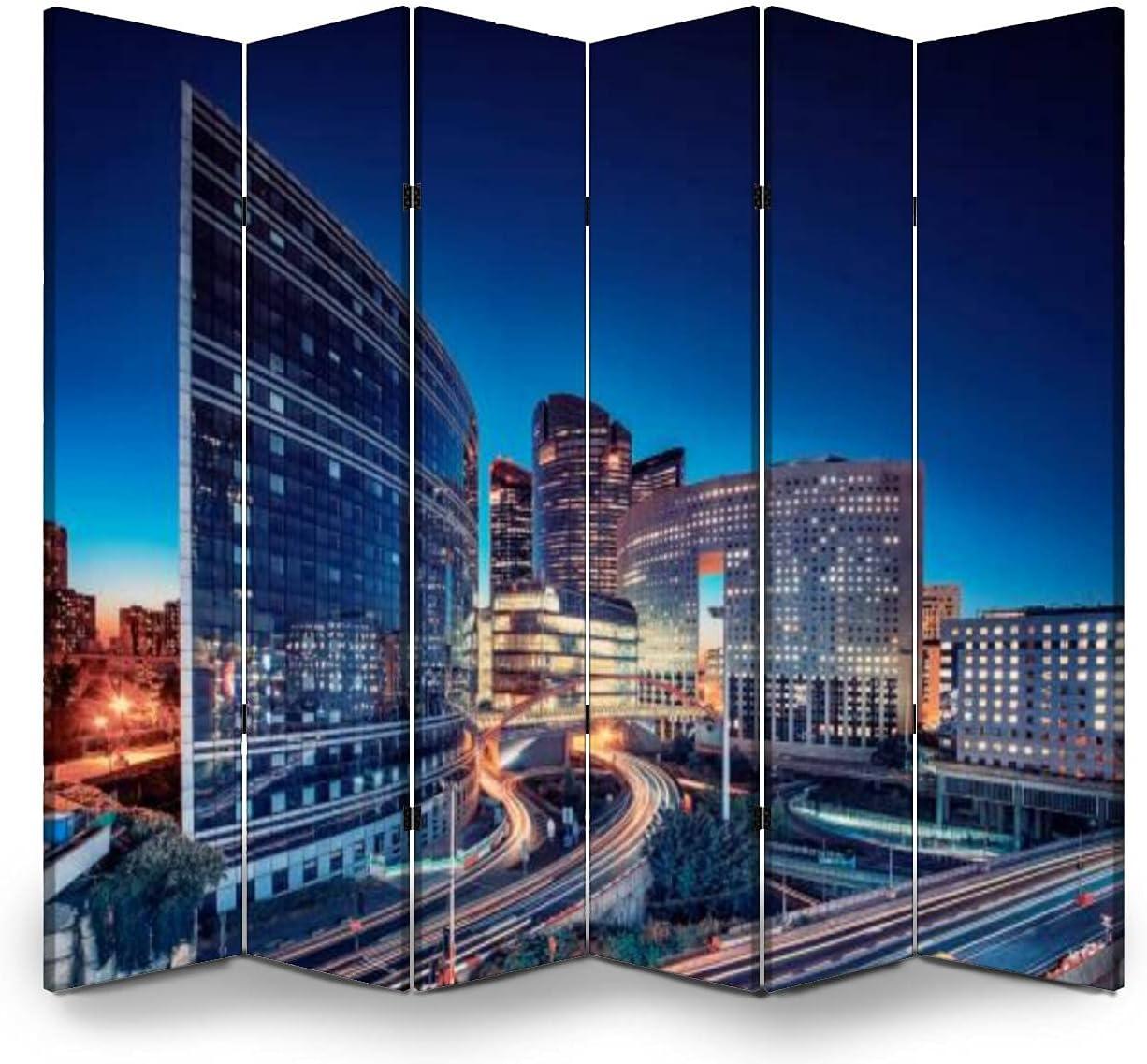 Dola-Dola 6 Panel Screen Room Philadelphia Mall Divider Paris Building in F Modern Ranking TOP19