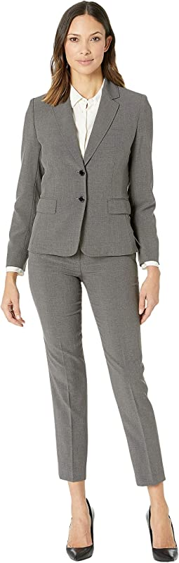 Bistretch Two-Button Jacket with Turn Cut