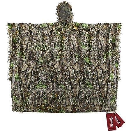 3D Ghillie Suit Woodland Tarnanzug Camo Camouflage Kleidung Jagd Free /&n