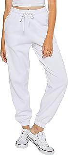esstive Women's Ultra Soft Fleece Basic Midweight Casual 90's Oversized Sweat Pants