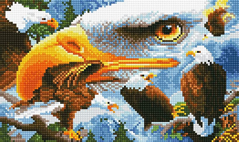 """TINMI ARTS-5D Diamond Painting Christmas Full Round DIY Cross Stitch Pattern Embroidery Kits Paint with Diamonds Home Décor-18""""x12"""