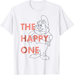 Snow White The Happy One Outlined Graphic T-Shirt