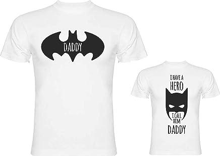 0777e4e327d2c2 Centro Stampa Brianza Maglietta papà Figlia Figlio - Festa del papà - Bat  Daddy