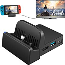 $31 » UKor TV Dock Docking Station for Nintendo Switch, Portable Charging Stand,Compact Switch to HDMI Adapter,with Extra USB 3....