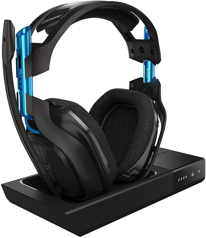 سماعات لاسلكية استرو A50 من الجيل الثالث - تناسب جهاز Playstation 4، لون اسود