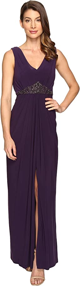 Adrianna Papell - Draped Back Jersey Gown