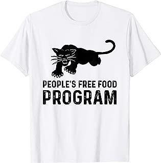 People's free food program black cat graphic design T-Shirt