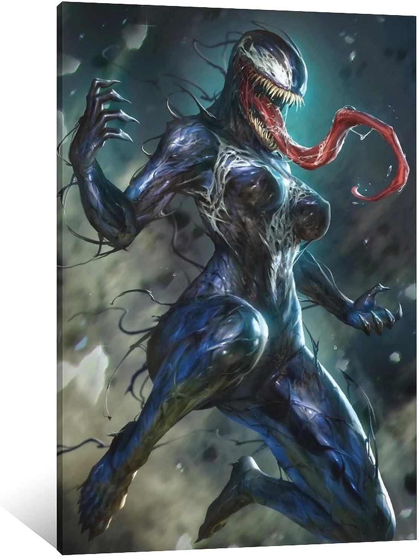 JIHONG She Venom 02 Poster 今ダケ送料無料 Decorative Art Painting Canvas 新作 大人気 L Wall