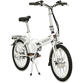 aktivelo Kardani - Bicicleta plegable eléctrica de aluminio (20 pulgadas), color Blanco, tamaño 20 inches, tamaño de rueda 20.00: Amazon.es: Deportes y aire libre