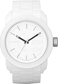 Diesel Men's White Dial Silicone Band Watch - DZ1436