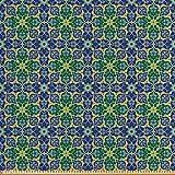 ABAKUHAUS Ethnisch Satin Stoff als Meterware, Arabischer