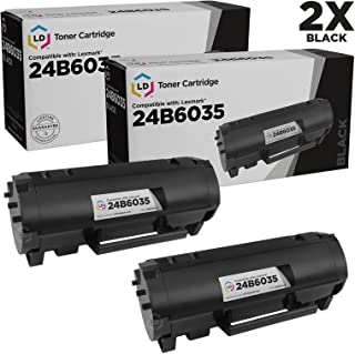 LD Compatible Toner Cartridge Replacement for Lexmark M1145 24B6035 (Black, 2-Pack)