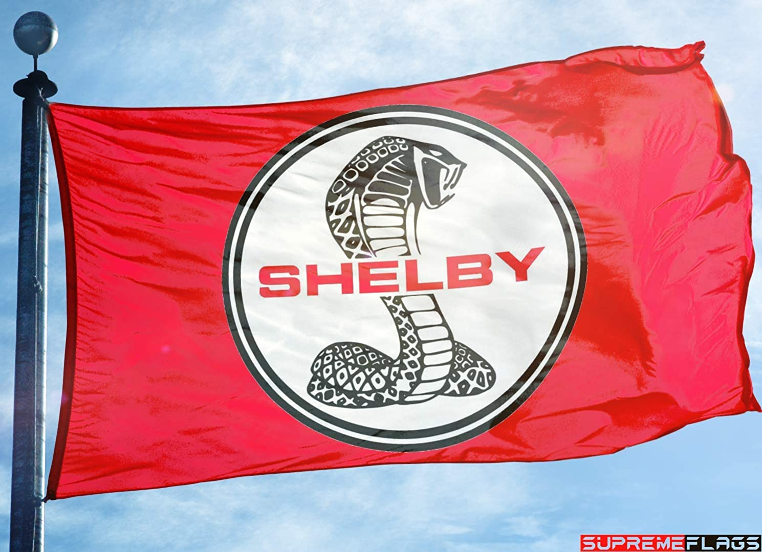 Shelby Cobra Flag Banner 3x5 ft Motorsport Car Racing Red