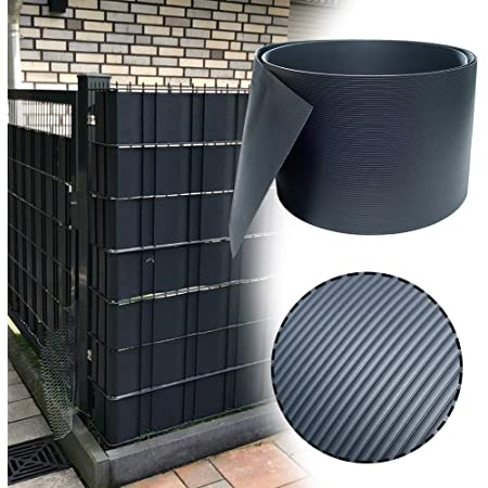 10 Stück PVC Sichtschutz Streifen Windschutz Zaunblende Gitterzaun Stabmatten DE