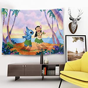 Cartoon Party Tapestry Wall Hanging Party Wall Tapestry with Art Home Decorations for Living Room Bedroom Dorm Decor in 50x60 Inch
