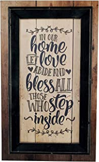 in our home let love abide wall decor