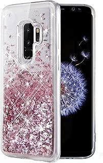 Caka Galaxy S9 Plus Case, Galaxy S9 Plus Glitter Case Liquid Series Luxury Fashion Bling Flowing Liquid Floating Sparkle Glitter Soft TPU Case for Samsung Galaxy S9 Plus (Rose Gold)