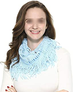 Women Softloop scarfs Cable Knitted Neck Circle Lattice Chunky Luxury Ladies Warm Scarf
