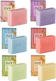 Natural Handmade Essential Oil Soap Bars with Shea Butter, Coconut Oil & Jojoba Oil - Face & Body Soap Bar Gift Set for Women & Men! (Gift Box)