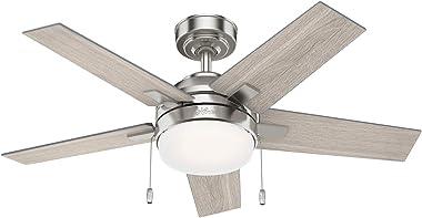 Hunter Fan Company 51839 Bartlett Ceiling Fan, 44, Brushed Nickel