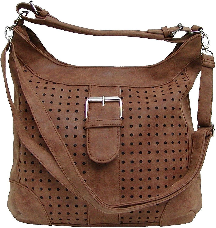 Marc Chantal top-modischer Kunstleder Body Bag braun, Wildlederoptik, 1 1 1 Rückfach, Innenfächer, ca. 34x37x10 cm B06Y4X6QMJ  Am wirtschaftlichsten c29dc8
