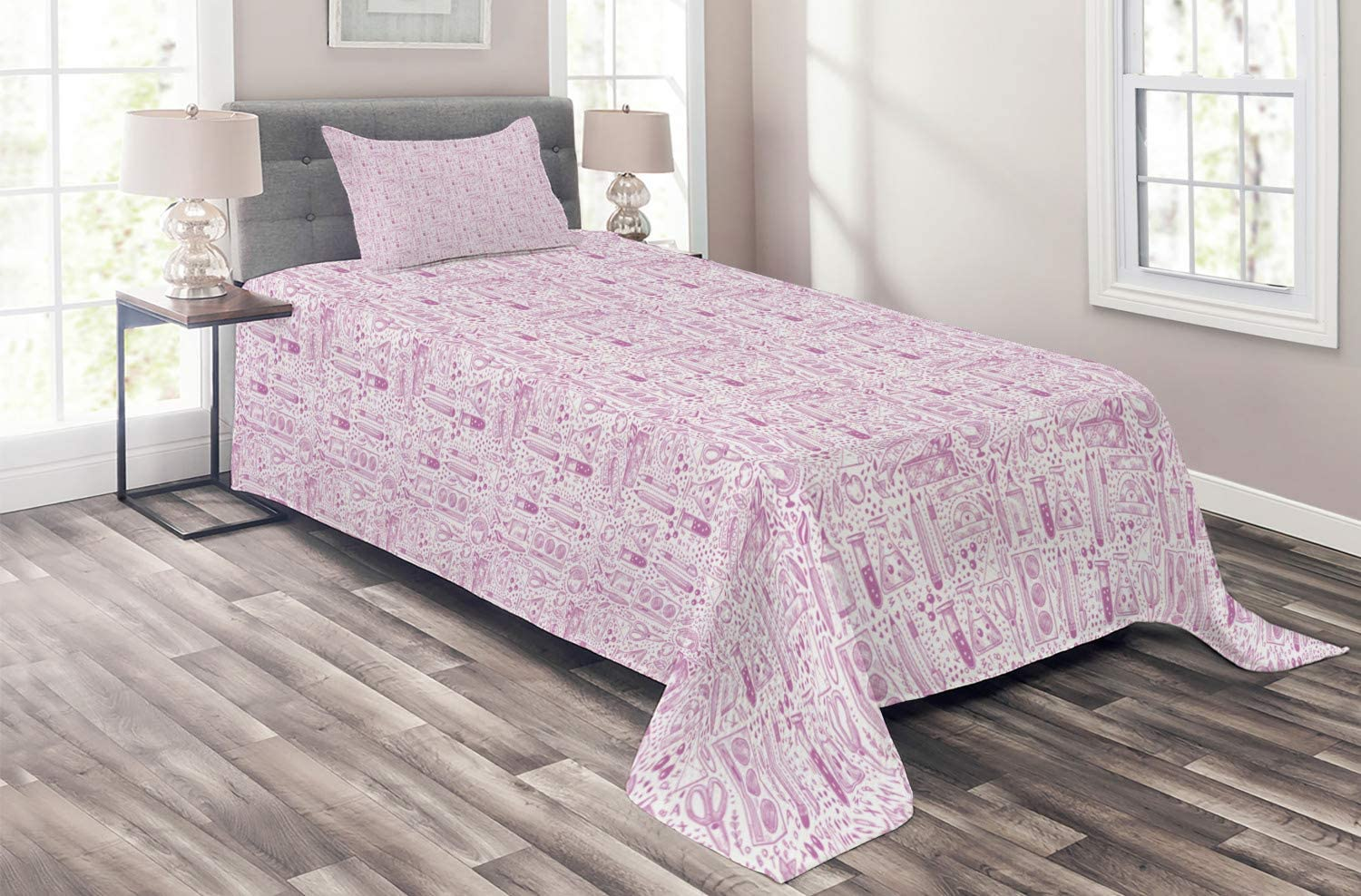 Ambesonne Sketch Coverlet Monochromatic Doodle Style Popular product shipfree Jumble Obj
