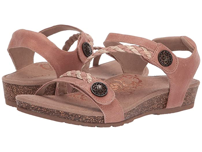 Aetrex  Jillian Quarter Strap (Blush) Womens Sandals