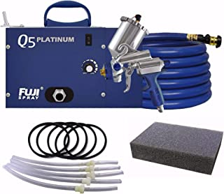 Fuji Q5 Platinum Quiet HVLP Spray System & Gravity Cup Parts w/ Q-Filter