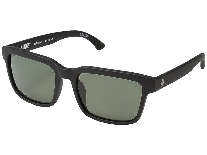 Spy Optic Helm 2 (Matte Black/Happy Gray Green Polar) Athletic Performance Sport Sunglasses
