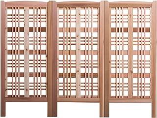 Arboria Claremont Landscape Privacy Screen – Western Red Cedar Trellis Made in USA, 27 x 59 Inches, 3 Screens