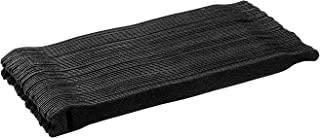 Starument Hook and Loop Cable Ties, Premium Industrial Grade and Reusable Fastening Cord Straps for Home, Office and Outdoors, Black, 100 pack