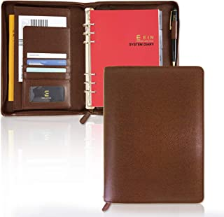 Synthetic Leather System Diary Zipper Handmade Organizer Planner with Daily Schedule & Manage, Users can Create Their own ... photo