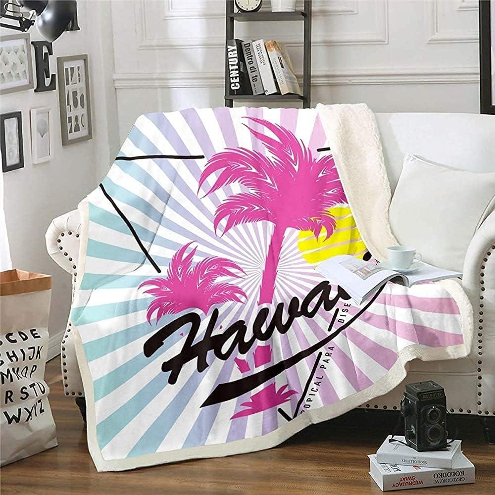 LAYENJOY Hawaiian Beach Fleece Tree Coconut Super Special SALE held Thro Superlatite Blanket
