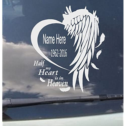 In Loving Memory Of CHILD BABY feet Decal Window Sticker custom Memorial car