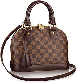 Authentic Louis Vuitton Damier Alma BB Cross Body Handbag Article  N41221  Made in France c78a1b927b87e